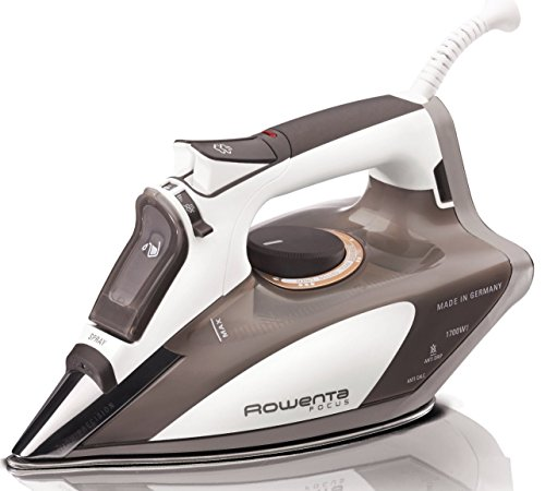 Rowenta DW5080 Focus 1700-Watt Micro Steam Iron Stainless Steel Soleplate with Auto-Off, 400-Hole,...