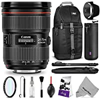 Canon EF 24-70mm f/2.8L II USM Standard Zoom Lens w/ Essential Bundle - Includes: Camera Sling Backpack, Monopod, Altura Photo Ultra Slim UV, Camera Cleaning Set Key Pieces Review Image