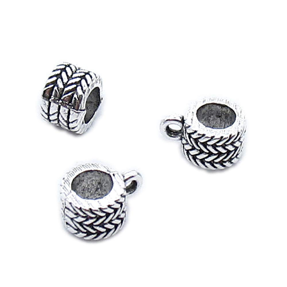 1710 Pieces Antique Silver Tone Jewelry Making Charms Crafting Beading Craft AA380 Tube Bead Bail Cord Ends