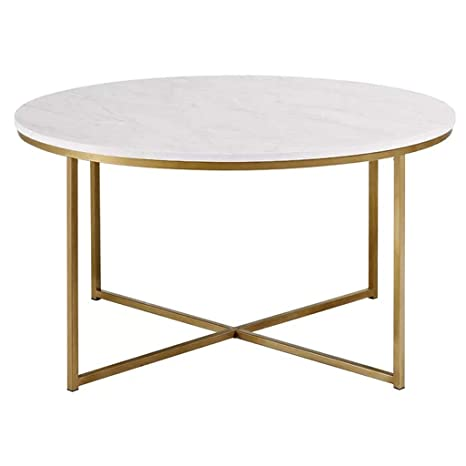 White Marble Coffee Table Round Side Tables Various Sizes