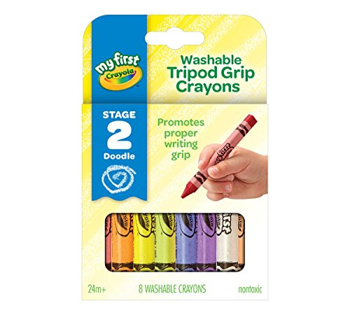 Crayola My First, Washable Tripod Crayons for Toddlers, 8ct ()