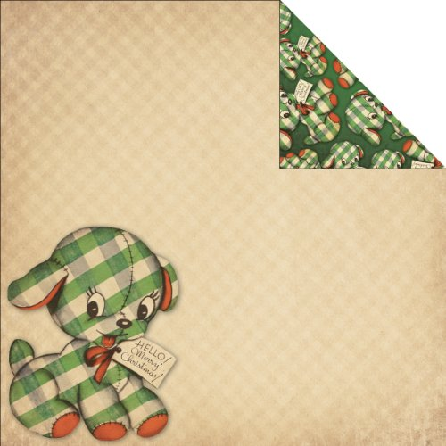 (Reminisce Here Comes Santa 12 by 12-Inch Double Sided Scrapbook Paper, Gift from Santa)