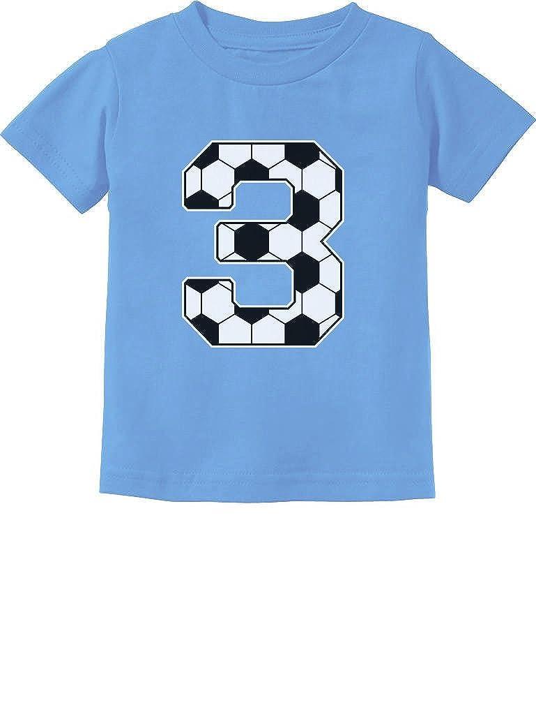 3rd Birthday Gift 3 Year Old Soccer Fan Toddler Kids T-Shirt Tstars