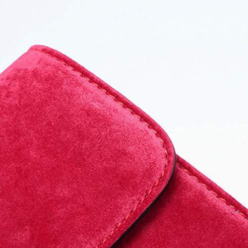 Bandoulière PU Main À Sac À Red Sac Daim Petit À En Lxf20 Sac Carré Sac Femme Bandoulière Mode qOREEI