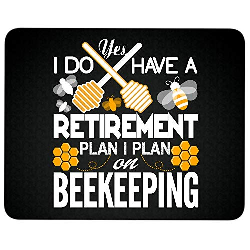 (I Plan On Beekeeping Non-Slip Rubber Base Mousepad for Laptop, Computer & PC, I Do Have A Retirement Plan Mouse Pad(Mouse Pad -)