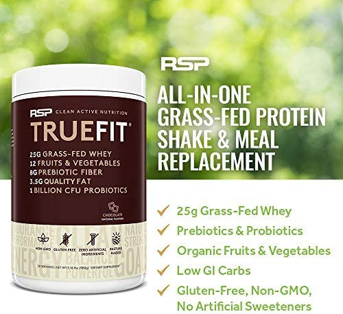 RSP TRUEFIT - Protein Powder Meal Replacement Shake, Grass-Fed, Organic Real Food, Probiotics, MCT Oil, Non-GMO, Gluten Free, No Artificial Sweeteners, 2 LB Chocolate 4