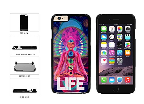 Colorful Life Meditating Woman Plastic Phone Case Back Cover Apple iPhone 6 (4.7Inches) (Bleu Reign Inc Iphone 6)