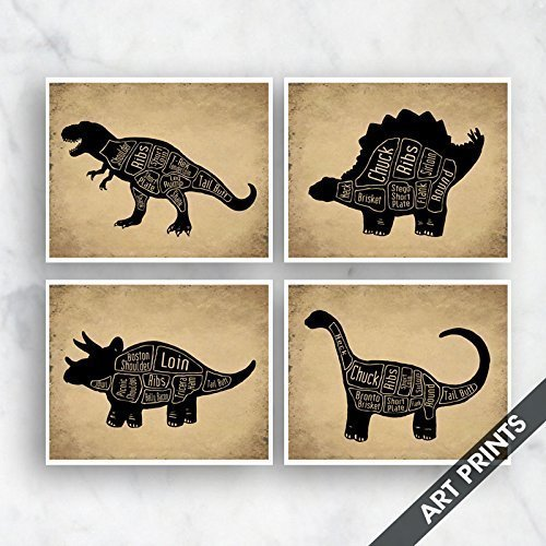 Amazon.com: T-Rex, Stegosaurus, Triceratops, Brontosaurus (Butcher ...
