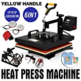 "Mophorn 6 in 1 15"" X 15"" Heat Press 360 Degree Swing-Away Heat Press Machine Multifunction Sublimation Combo T Shirt Press Machine for Mug Hat Plate Cap Mouse Pad (15 by 15 inch 6pcs)"