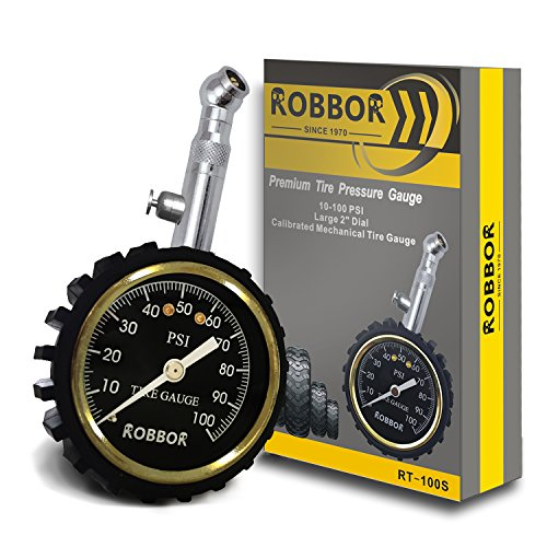 Tire Pressure Gauge(100 PSI) With Pressure Release Valve Best for Reading Accurate Car Truck Motocycle Tires,Premium Robbor Tire Gauge