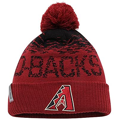 Arizona Diamondbacks A Logo MLB 2016 On Field Sport Knit Cuffed Pom Knit Cap / Beanie
