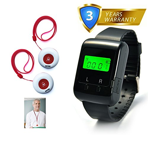 caregiver-pager-wireless-nurse-call-alert-system-for-elder-patient-disable-at-home-1-pc-wearable-pag