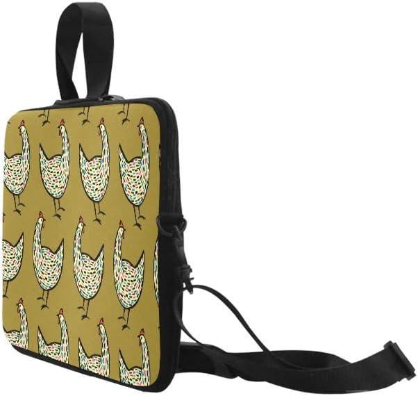 Pattern Chickens Laptop Handbags 14 Laptop Shoulder Bag Messenger Bag Case Notebook Handle Sleeve Neoprene Soft Carring Tablet Travel Case