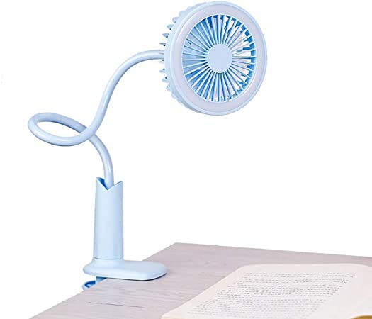 WANG LIQING Lámpara de Mesa Ventilador de cabecera Clip de Mano ...