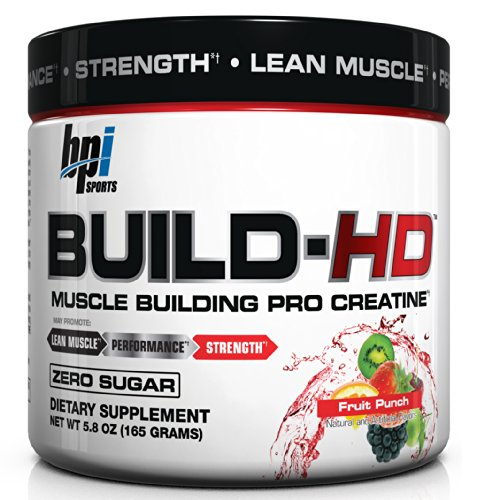 BPI Sports Build-HD Muscle Building Pro Creatine, Fruit Punch, 5.8-Ounce