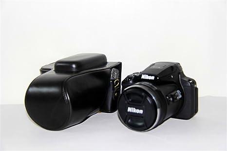 Zakao - Funda de piel sintética para cámara Nikon COOLPIX P900S ...