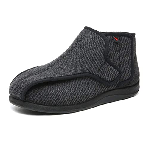 0f489d515ee7 DS-Slippers Mens Edema Boots–Extra Extra Wide Slippers–Soft Adjustable for  Diabetic