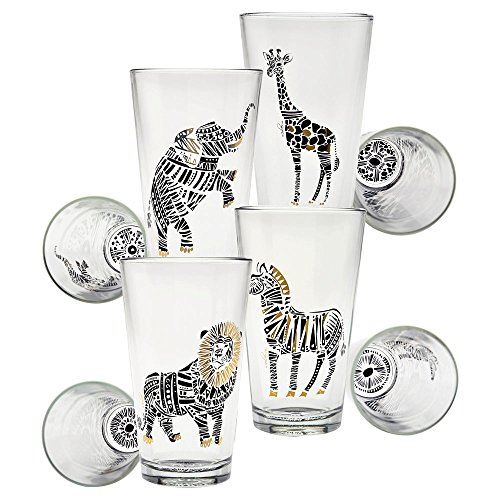 Culver Gold 22k Safari 16-Ounce Pint Glass (Set of 4) - Culver Glasses Gold