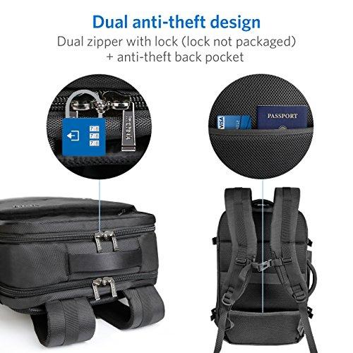 Inateck 30L supergroßer Laptop Rucksack für 17 Notebooks, Backpack für eine 1-Wochen-Reise, Diebstahlsicherung, rucksack herren und frauen