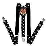 Nice Unique Love Heart Fox Suspender Unisex Suspender Adjustable Y-Back
