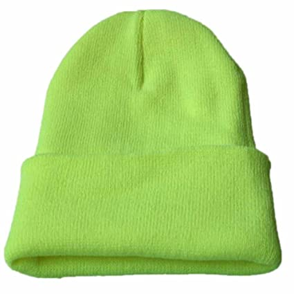 257eb7d4ef2ee Challyhope Beanie for Women and Men - by Unisex Cuffed Plain Skull Toboggan Knit  Hat and Cap(Mint Green