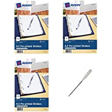 Avery Mini Preprinted Dividers with A-Z Tabs, 5.5 x 8.5-Inches, 12-Tab Set (11313), 3 Packs - Bundle Includes a Letter Opener