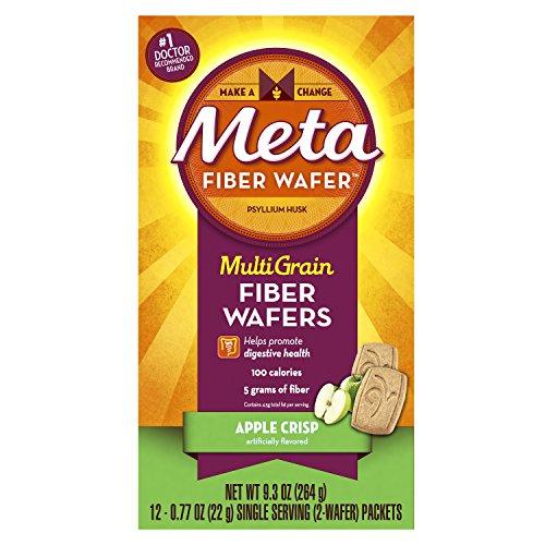 Fiber Wafers (Metamucil Meta Multi-grain Fiber Wafers by Meta, Apple Crisp, 24 count (Pack of 3))