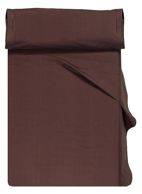 Home Royal - Juego de sábanas compuesto por encimera, 250 x 285 cm, bajera ajustable, 158 x 200 cm, 2 fundas para almohada, 45 x 85 cm, color naranja: ...
