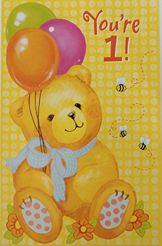 This Has Been a Year of Firsts - Happy 1st First Birthday Greeting Card - Turning 1 One Years Old