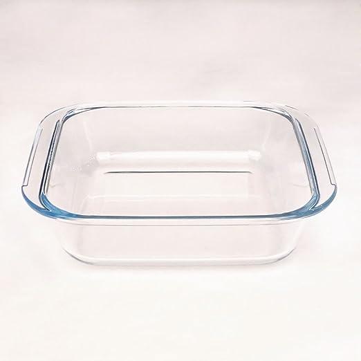 Plato para hornear de vidrio plato cuadrado de risotto plato para ...