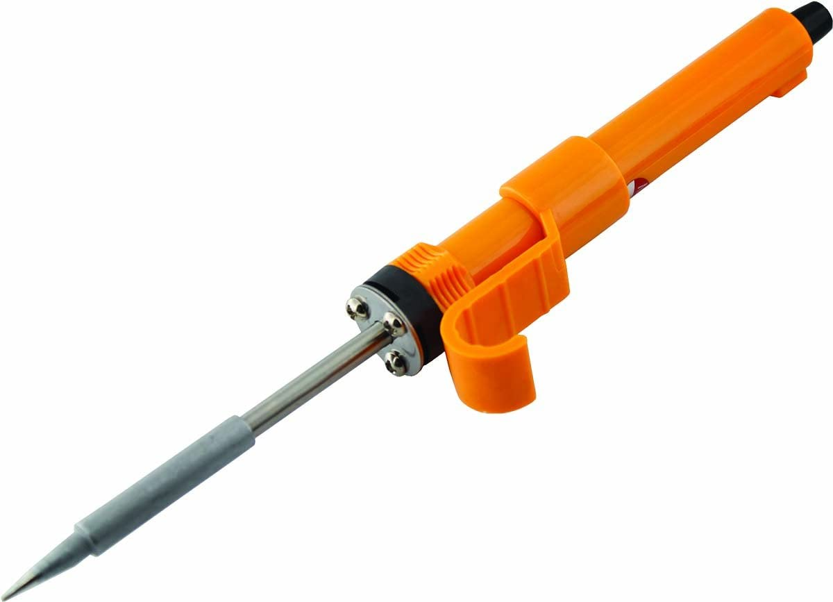 MIYAKO 30 Watt Soldering Iron with Heavy Duty Ceramic Heater Quick Heating Element, High-Performance Pencil Style Welder with Plastic Handle and Replaceable Tip (74B330)