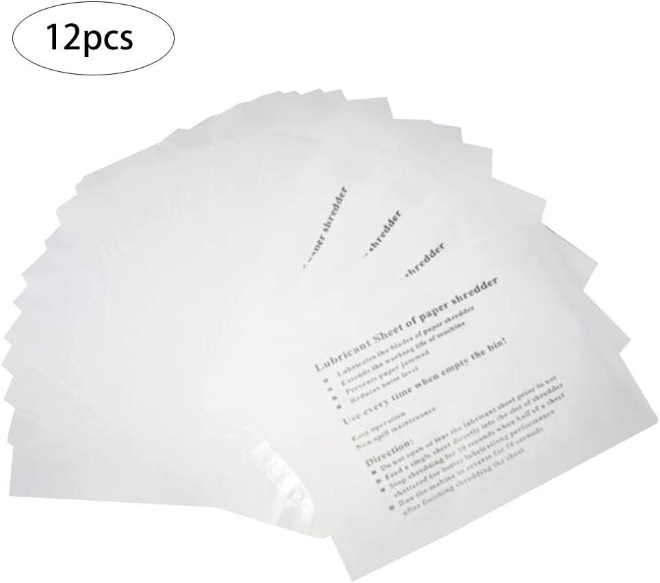 Effektiv Die Effizienz des Shredders Verbessern 12PCS Aktenvernichter Sch/ärfen Schmiermittel Bl/ätter
