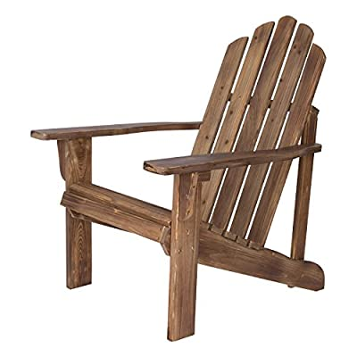 Shine Company Rustic Adirondack Chair, Rustic Wine - Material: Yellow Cedar Wood known for its natural resistance to moisture, decay, and insect damage. Finish: Weathered/distressed texture on the wood. Cedar wood has a beautiful grain and a knotty grade that adds warmth and charm. - patio-furniture, patio-chairs, patio - 51fHCotitCL. SS400  -