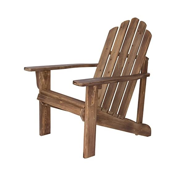 Shine Company Rustic Adirondack Chair, Rustic Wine - Material: Yellow Cedar Wood known for its natural resistance to moisture, decay, and insect damage. Finish: Weathered/distressed texture on the wood. Cedar wood has a beautiful grain and a knotty grade that adds warmth and charm. - patio-furniture, patio-chairs, patio - 51fHCotitCL. SS570  -