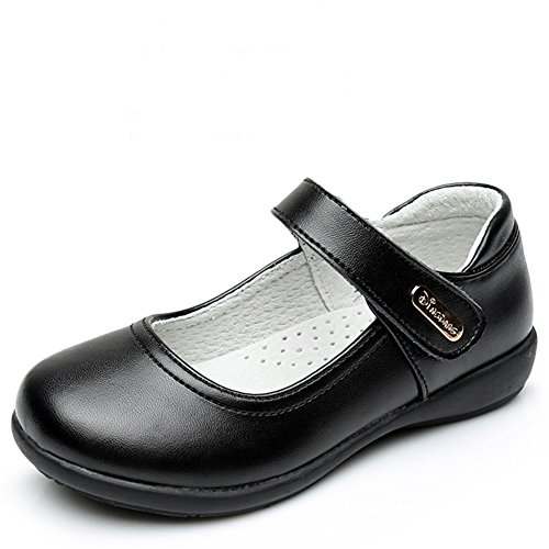 Chiximaxu Maxu Girl Classic Uniform Leather Mary Jane Flat Shoes,Little Kid Size 13 by Chiximaxu (Image #3)