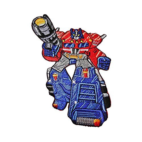 Blue Heron Transformers Autobots Optimus Prime Full Body Embroidered Iron/Sew-on Applique (Nba Applique)