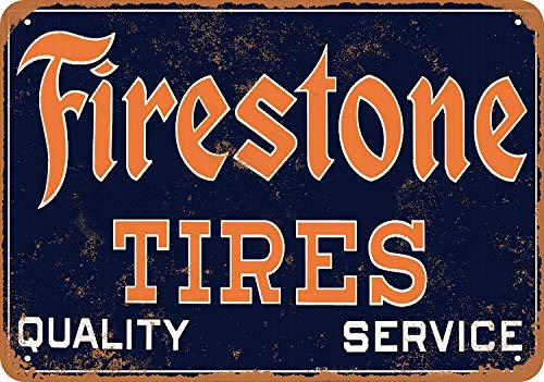 ファイヤーストンタイヤ 金属板ブリキ看板警告サイン注意サイン表示パネル情報サイン金属安全サイン