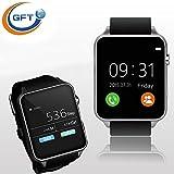 GFT GT88 Bluetooth Smart Watch Mp4 Wearable Device Cell Phone Clock Smart Health Wrist Smartwatch (Sliver)