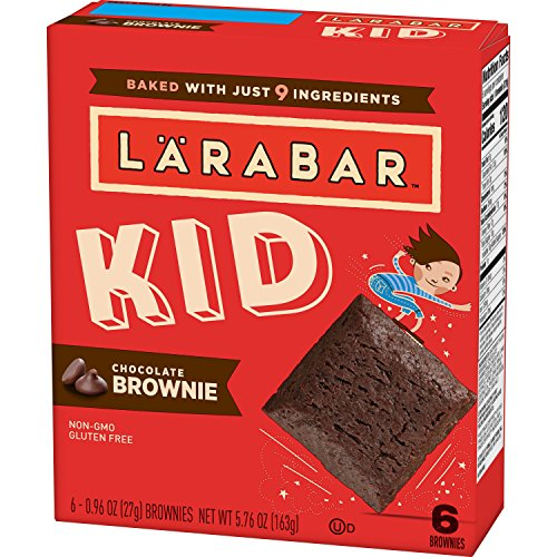 - Larabar Kid, Chocolate Brownie Bars, 6-0.96 oz. Bars (8 Boxes), Gluten Free, Whole Food Snack Bars
