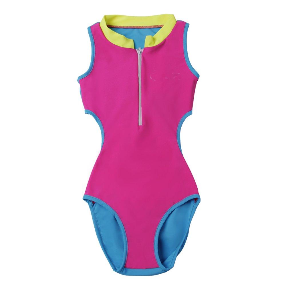 QRH Big Girls Swim Sunsuit One Piece Swimwear