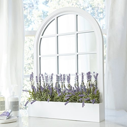 Butterfly Craze White Wall Mirror - Decorative Window Pane Style, Perfect for Contemporary Wall Decor and Home Decorations