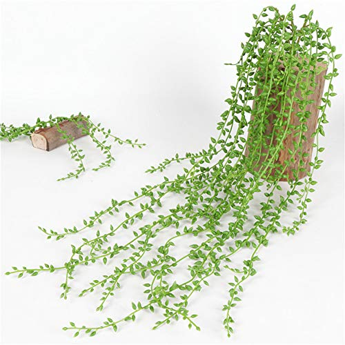 - LamicAR1Pc 82cm Hanging Artificial String of Pearls Vine Wedding, Party,Home,Wall Decor - Green