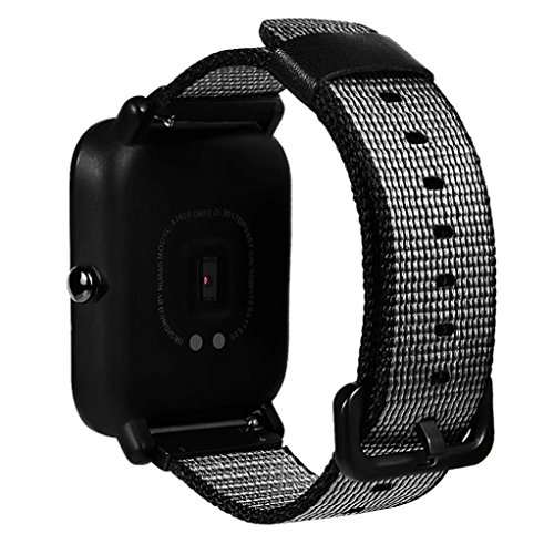 Price comparison product image For Xiaomi Huami Amazfit Bip Youth Watch, Outsta Sports Watch Replacement Nylon Bracelet (Black)