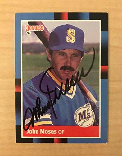 JOHN MOSES SEATTLE MARINERS SIGNED AUTOGRAPHED 1988 DONRUSS CARD #440 W/COA