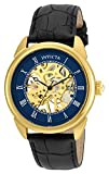 invicta gold watch blue dial - Invicta Men's 'Specialty' Mechanical Hand Wind Stainless Steel and Leather Casual Watch, Color:Black (Model: 23536)