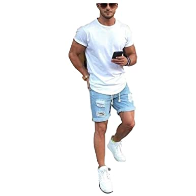 b9df5da126 Image Unavailable. Niome Plus Size Style Summer Men Short Jeans Men's  Fashion Denim Pants ...