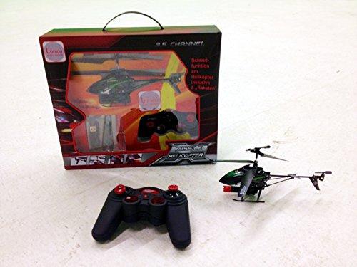 Tronico RC Hubschrauber - ferngesteuerter Helikopter mit 3,5 GHz - Raketen - LED-Lichter - RC Doppelrotor Hubschrauber - RtF (Ready to Fly) - Izzy Sport