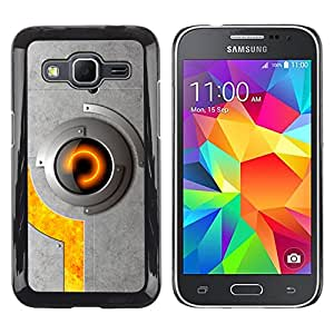 El impresionante bloqueo de ojos - Metal de aluminio y de plástico duro Caja del teléfono - Negro - Samsung Galaxy Core Prime