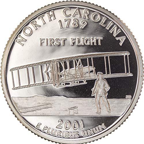 (2001 S North Carolina State Proof Quarter PF1 US Mint )