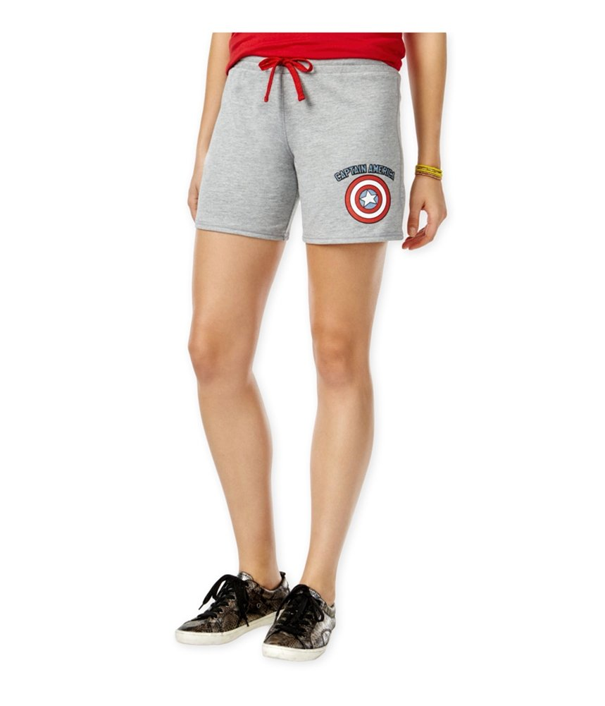 Freeze CMI Inc. Womens Captain America Athletic Sweat Shorts Grey M - Juniors